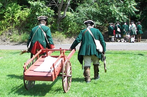 Soldiers with cart